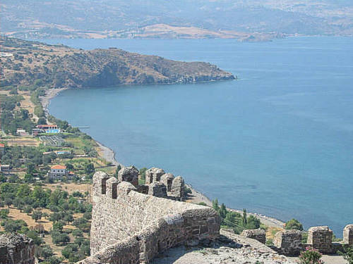The Byzantine Castle of Molivos at the North part of Lesvos island.