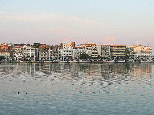 The picturesque town of Mytilene